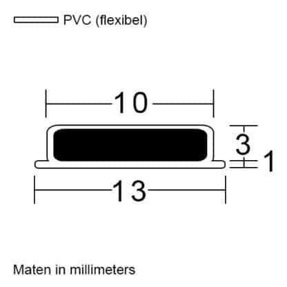 Douchedeur insteek magneetprofiel type plat maatvoering