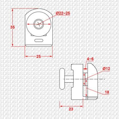Douchedeur bovengeleider type 1 afmetingen